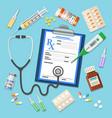 set medicinal icons vector image vector image