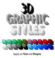 Set of 3d Graphic Styles vector image vector image