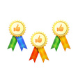 Set of Gold Medals vector image vector image
