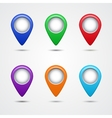 Set of round map pointers vector image