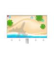 shadow plane under tropical beach billboard vector image vector image