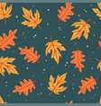 simple flat leaves seamless pattern vector image vector image