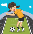Sport Player Cartoon character Girl Soccer Player vector image vector image