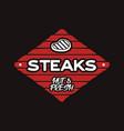 steak house logo template bbq grill bar emlem vector image