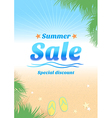 Summer holiday sales background poster vector image vector image