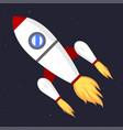 technology ship rocket startup innovation vector image vector image