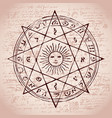 the sun in an octagonal star vector image vector image