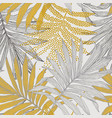 tropical seamless pattern with dotted sketch palm vector image vector image