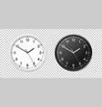 white and black wall office clock icon set design vector image