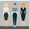 Women in office clothes Beautiful woman in vector image vector image