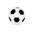 Football soccer ball isolated on white Flat design vector image