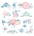 vintage floral vignettes vector image
