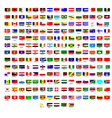 Flags of all countries in the world vector image