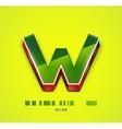 3d W letter Tecnology business symbol vector image