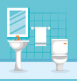 bathroom scene isolated icon vector image