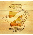 Beer and hop background vector image vector image