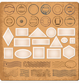 Blank borders and grunge rubber stamps vector image vector image
