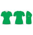 blank t shirt vector image vector image
