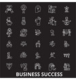 business success editable line icons set on vector image vector image