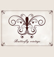 butterfly vintage vector image
