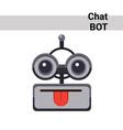cartoon robot face smiling cute emotion show vector image vector image