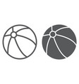 child ball line and glyph icon toy and game vector image vector image