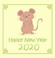 chinese new year 2020 cute rat mouse zodiac vector image