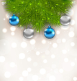 Christmas composition with fir branches and glass vector image vector image