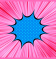 comic bright explosive concept vector image vector image