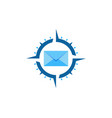compass mail logo icon design vector image