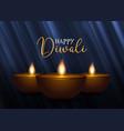 decorative diwali background vector image vector image