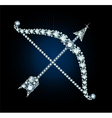 Diamond Bow And Arrow vector image