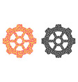 dotted gear mosaic icons vector image