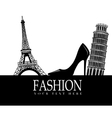 Fashion with Paris and Pisa in the background vector image vector image