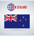 flag of the country new zeland isolated on modern vector image vector image