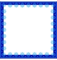 Frame of snowflakes vector image vector image