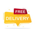 free delivery concept vector image