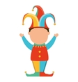 funny fool jester character icon vector image vector image