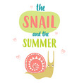 funny snail isolated vector image