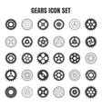 Gear cog wheel icon set vector image