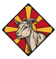 goat icon vector image vector image