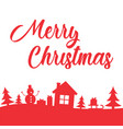 greeting card with lettering merry christmas on vector image vector image