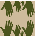 hand to hand vector image vector image