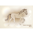 happy chinese new year horse 2014 postcard vector image vector image