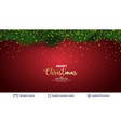holiday banner with fir tree border and stars vector image