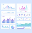 infographic color set info vector image
