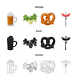 isolated object of pub and bar sign set of pub vector image vector image