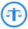 lawyer rounded grainy icon vector image