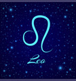 leo zodiac sign on a night sky vector image vector image