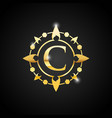 luxury c letter and gold logo vector image vector image